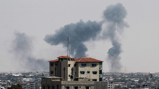 An IDF strike on a Hamas post in Gaza. Eventually, we may get dragged into a wide-scale military operation which neither side is interested in (Photo: AFP)