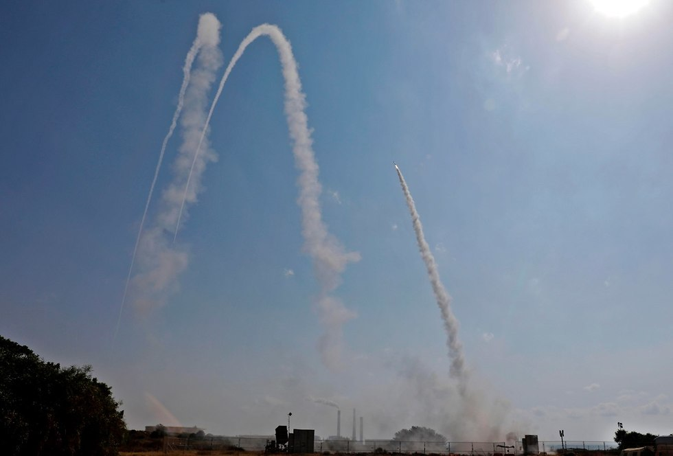 IDF intercepts Gaza rocket (Photo: AFP)