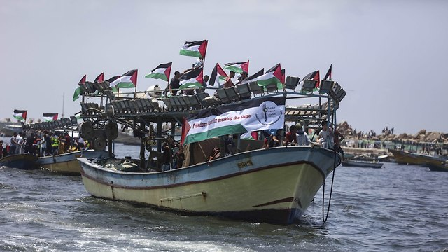 Palestinian naval expedition from Gaza (Photo: MCT)