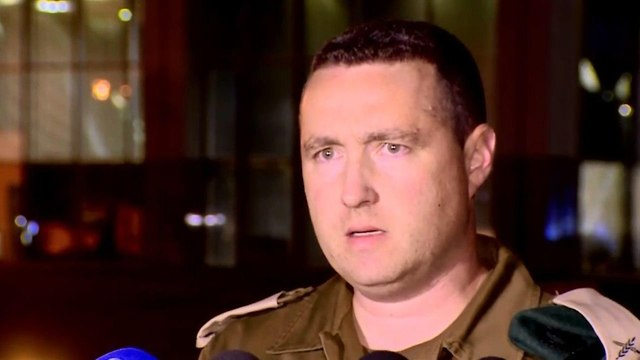 IDF Spokesman Manelis told reporters Tuesday's barrage was a 'serious terror attack against the State of Israel' (Photo: Channel 10 News)