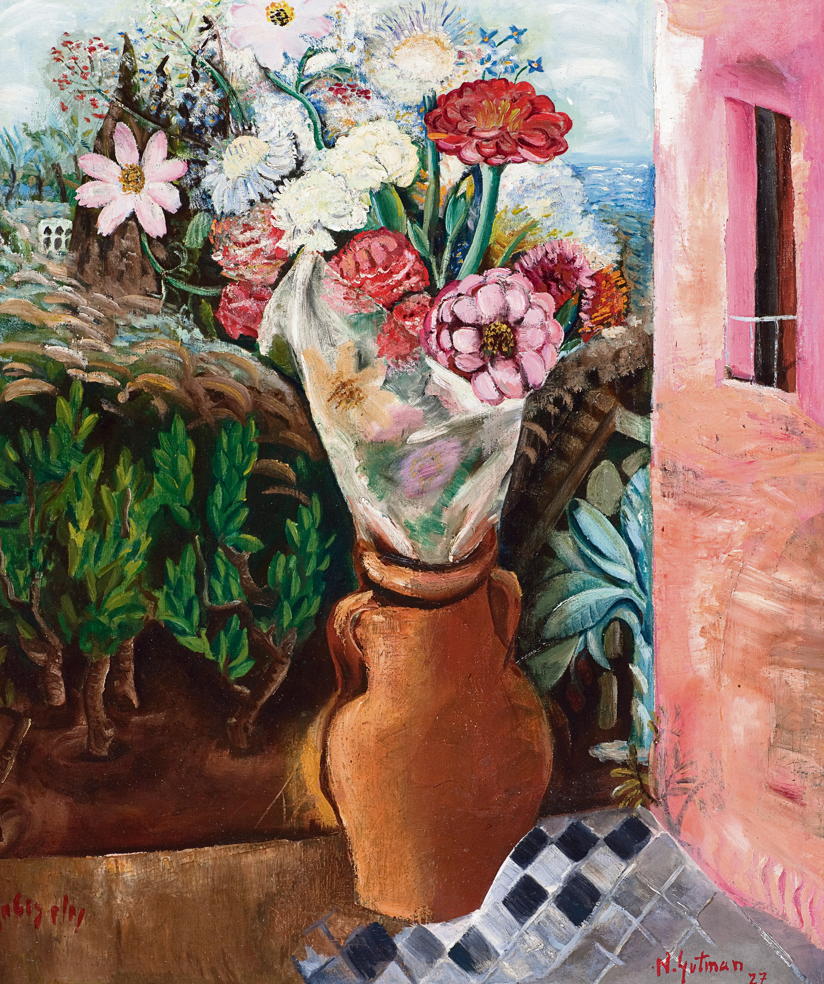 פרחים בחלון, 1927