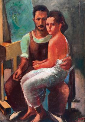 הזוג: דורה ונחום גוטמן, 1932