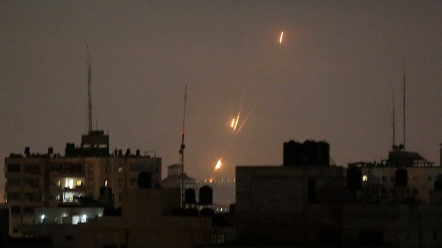 Rocket fire from Gaza (Photo: AP)