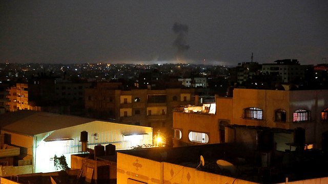 IDF strike in Gaza, Tuesday night. The attempt to prevent the situation from deteriorating into a rocket war failed  (Photo: AP)