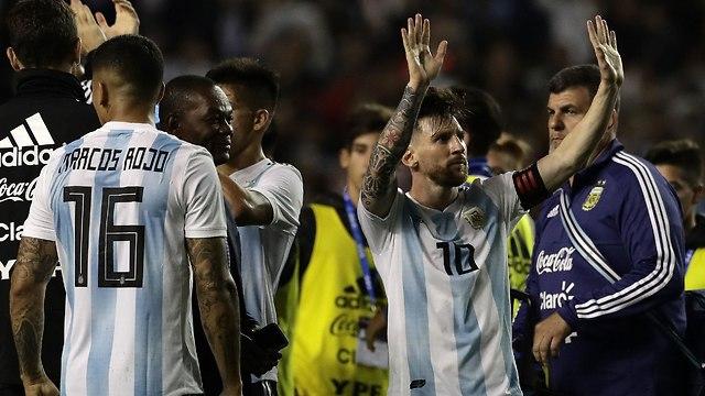 Месси и сборная Аргентины. Фото: AFP