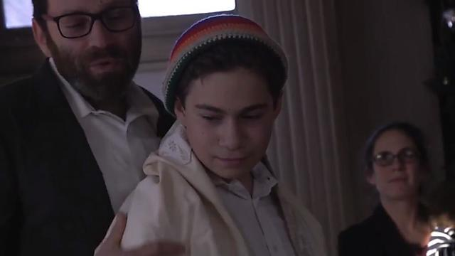 A bar mitzvah in the middle of nowhere. Oliver Levis with his son Guv