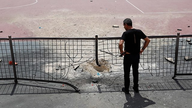 Area in Israel hit by Gaza rockets (Photo: EPA)