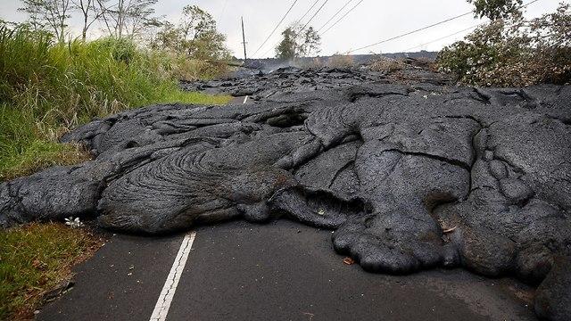 לבה התפרצות הר געש קליוואה הוואי (צילום: רויטרס)