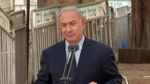 PM Netanyahu during ceremony for Altalena (Photo: Hagai Dekel)