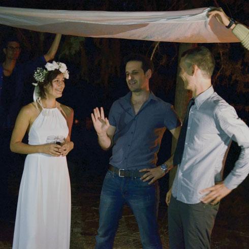 ליז ודימה סטרין ביום חתונתם (צילום: אלבום פרטי)