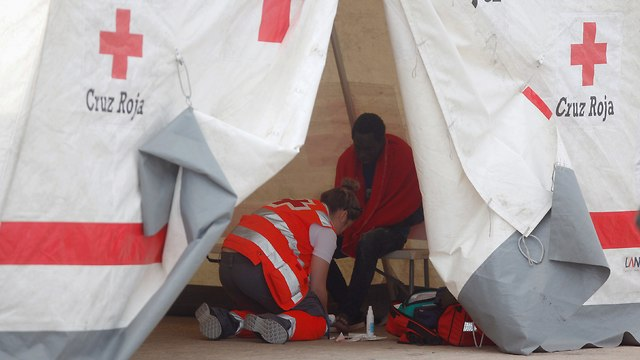 Red Cross tent (Photo: Reuters)