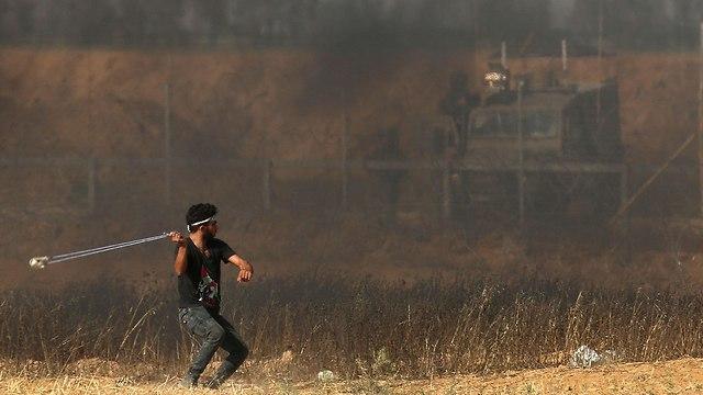 הפגנות גבול רצועת עזה (צילום: AFP)