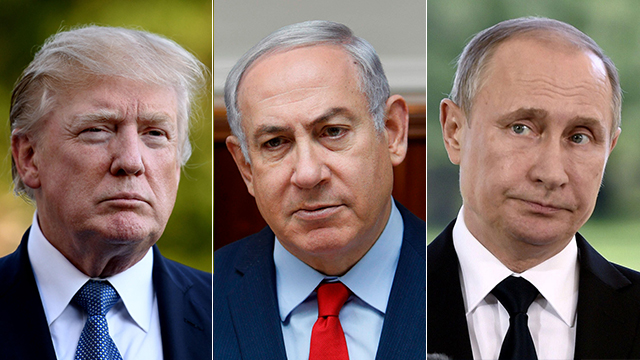 US President Trump, Israel's Prime Minister Netanyahu and Russian President Putin (Photo: MCT, AFP, Reuters)