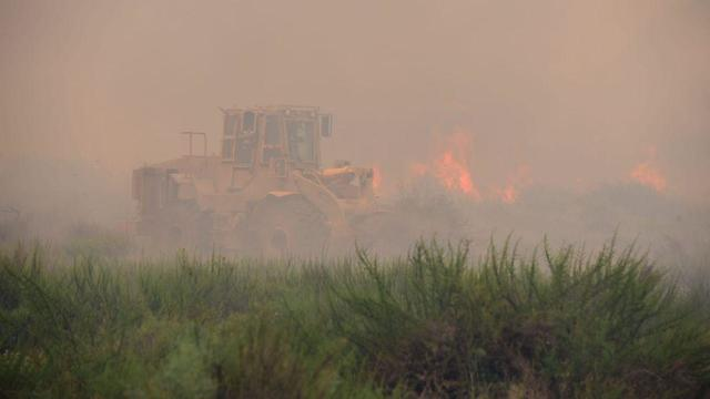 Fire at Karmia Nature Reserve