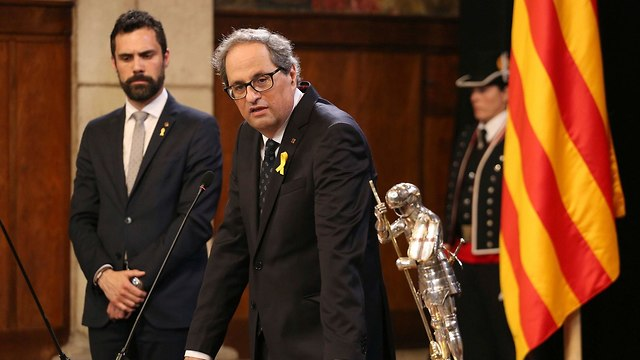 ספרד נשיא קטלוניה החדש קים טורה (צילום: AP)