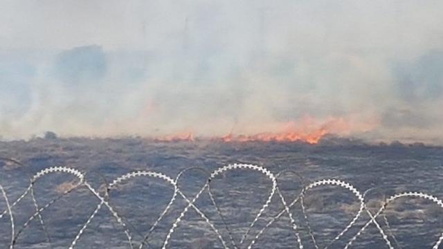 Fire near Nir Am (Photo: Noga Benodiz)