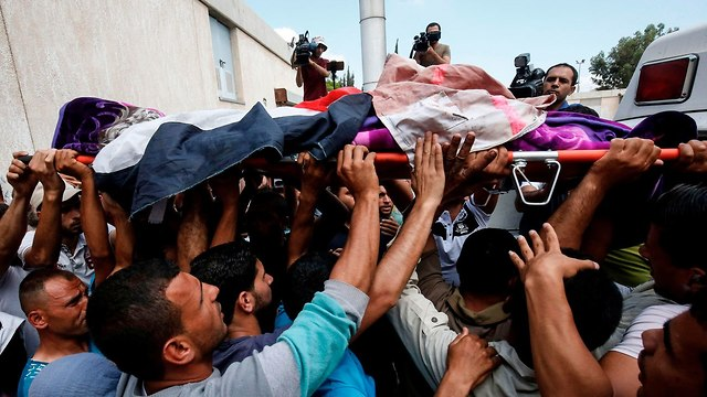 Najjar's funeral, the Gaza Strip (Photo: AFP)