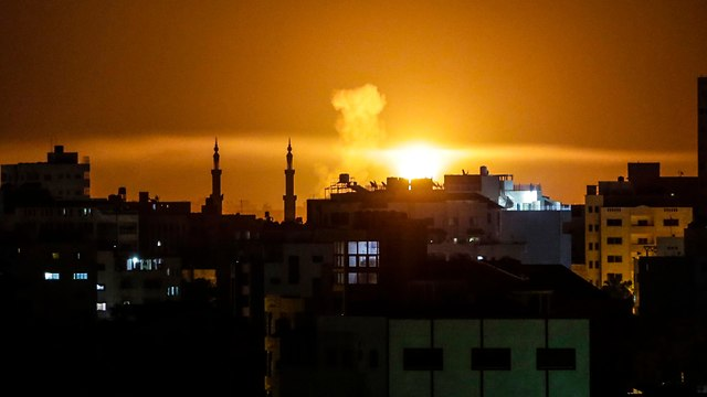IAF strike in Gaza, Saturday night  (Photo: AFP)