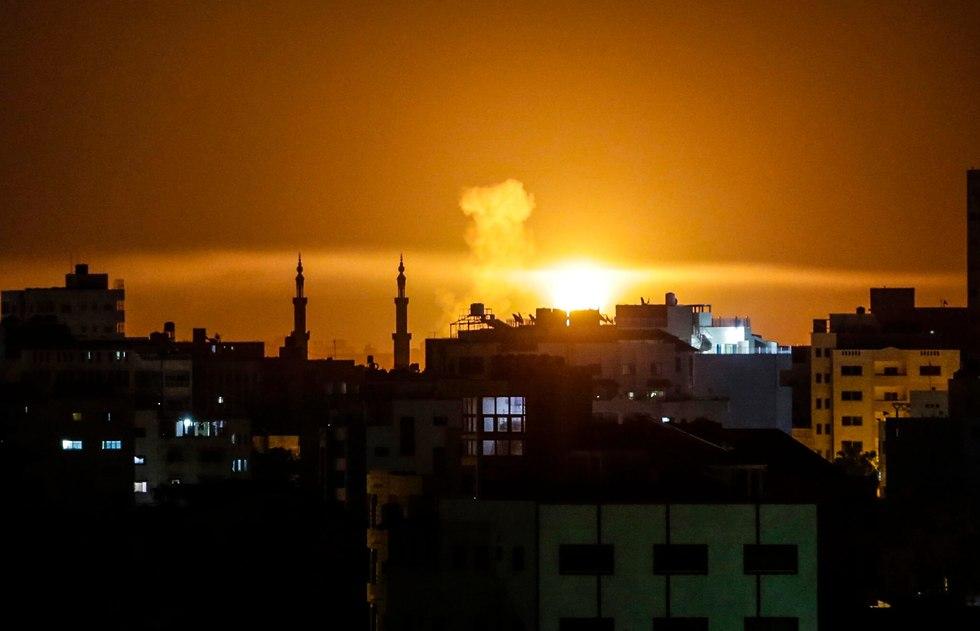 Удар по Газе. Фото: AFP