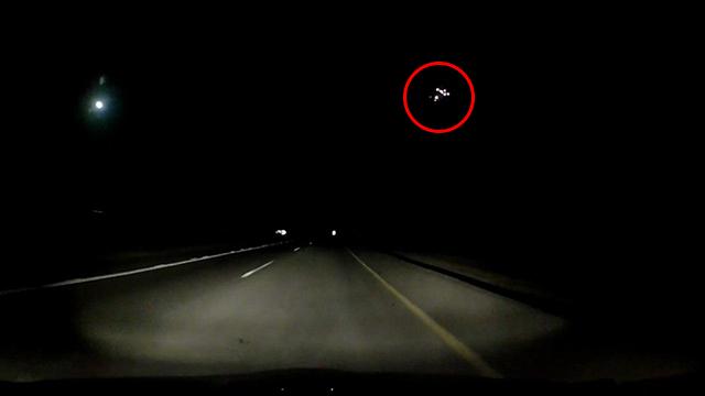 Rocket intercepted in Sderot, Saturday night (Photo: Nir Leichter)