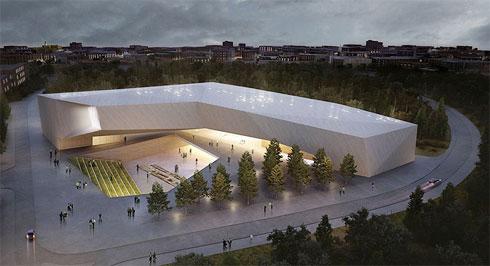 מוזיאון הסובלנות בירושלים, כפי שברכה ומיכל חיוטין תכננו אותו (הדמיה: חיוטין אדריכלים)
