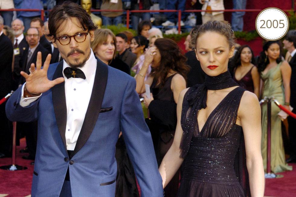 שביל באמצע ומשקפי ראייה. עם אשתו הראשונה, ונסה פאראדי (צילום: AP)