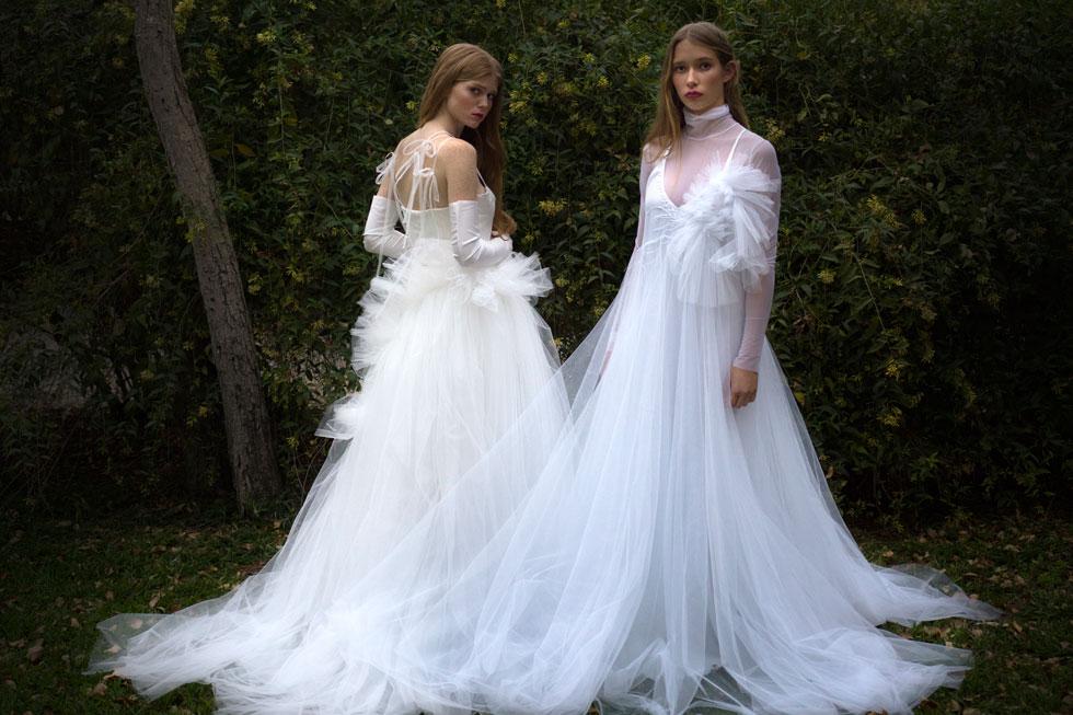 שמלות כלה של שחר אבנט, זוכה בפרס על סך 30 אלף שקל (צילום: מיכל חלבין)