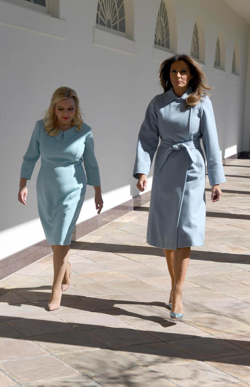 Сара Нетаниягу и Мелания Трамп в Белом доме во время государственного визита. Фото: Хаим Цах, ЛААМ