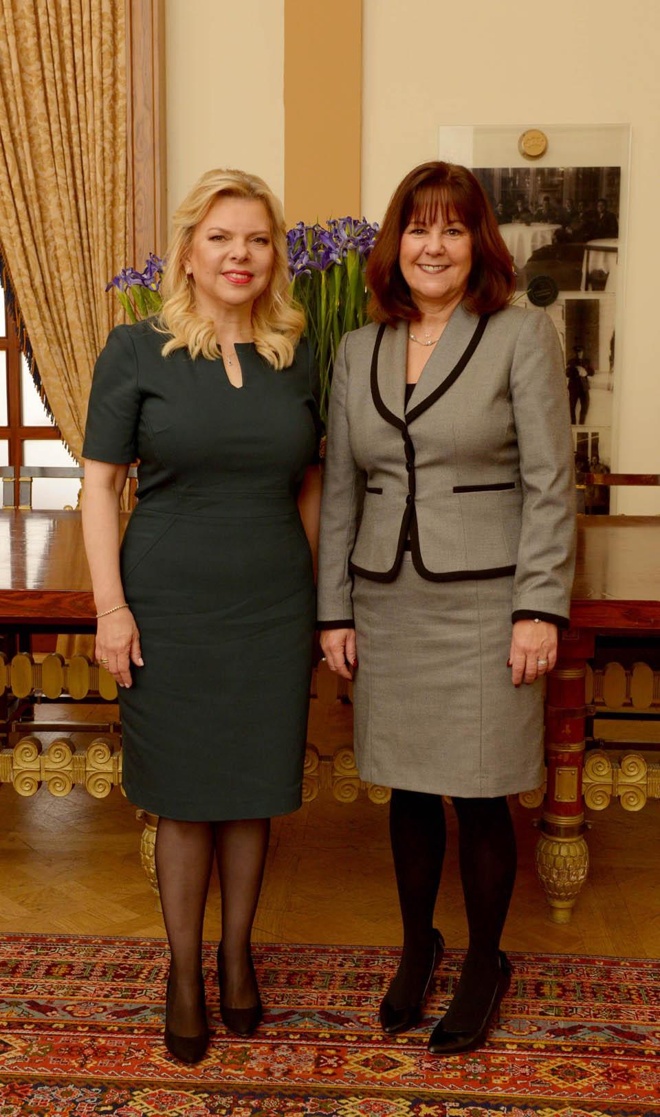 Сара Нетаниягу и Карен Пенс, супруга заместителя вице-президента США. Фото: ЛААМ