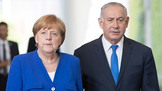 German Chancellor Angela Merkel and Prime Minister Benjamin Netanyahu (Photo: EPA)