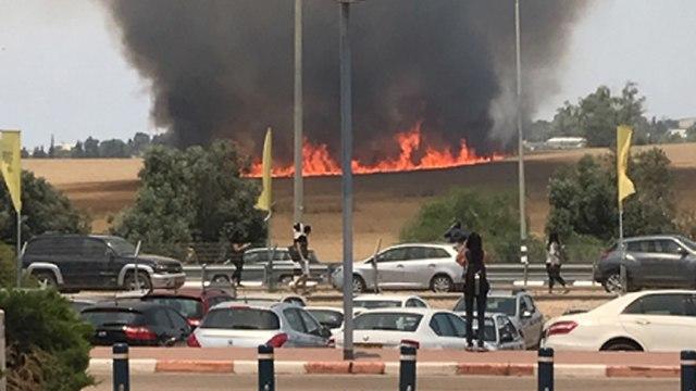 שריפה במכללת ספיר  (צילום: שיר סטולרו)