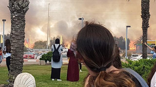 שריפה במכללת ספיר  ()