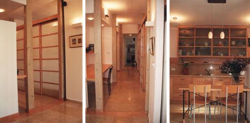 דירת המשפחה הראשונה, הקטנה, חולקה במחיצות נייר. כאן חיו 16 שנים (צילום: שי אדם)