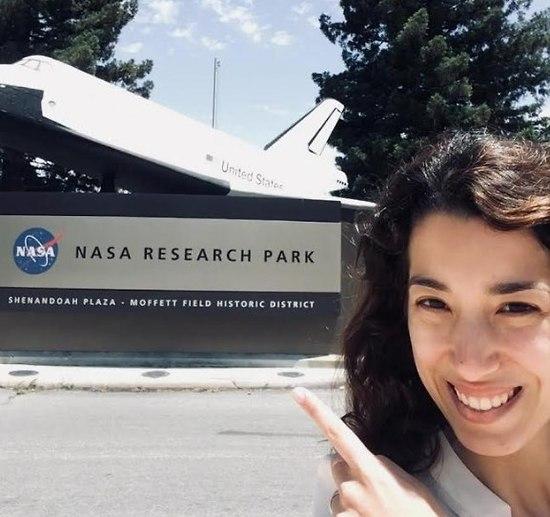 """נועה יחזקאל-לובין במרכז החלל איימס של נאס""""א (צילום: עצמי)"""