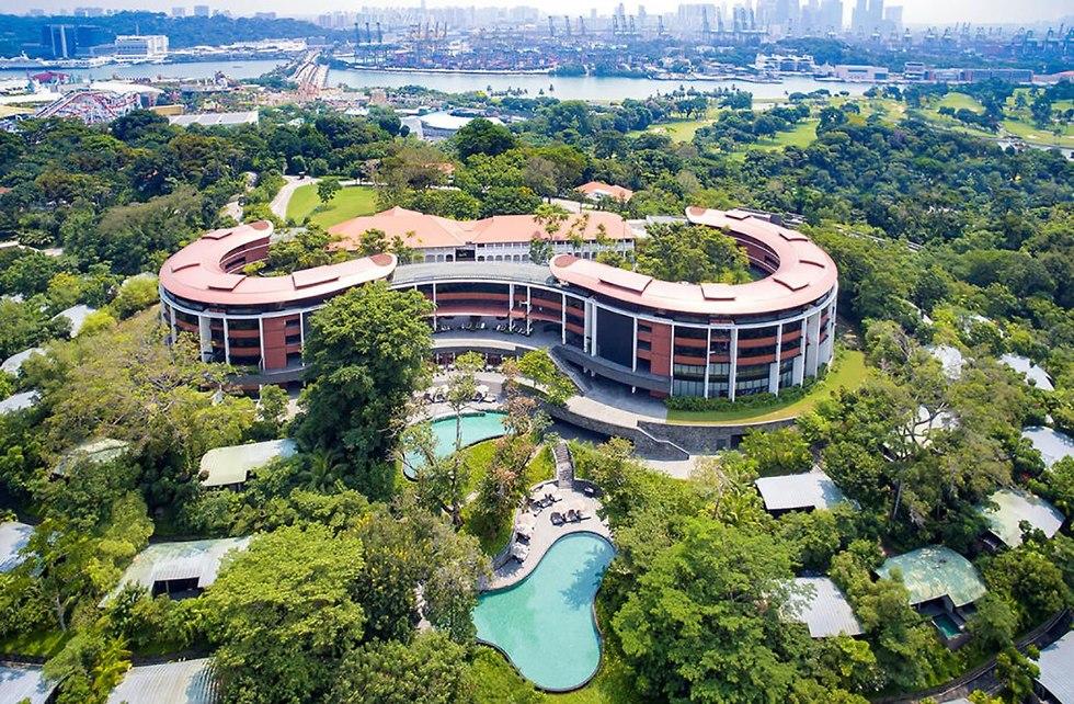 מלון קפלה האי סנטוזה ב סינגפור יארח את מפגש הפסגה של דונלד טראמפ ו קים ג'ונג און (צילום: רויטרס)