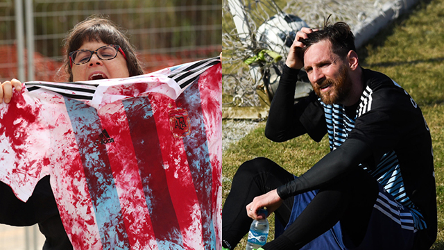 לאו מסי / פעילת BDS (צילומים: getty images, רויטרס)