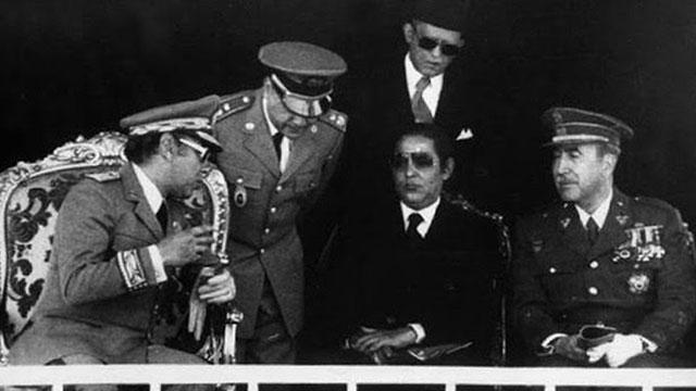 חסן השני מלך מרוקו וגנרלים 1965 (אוסף ג'ו גולן)