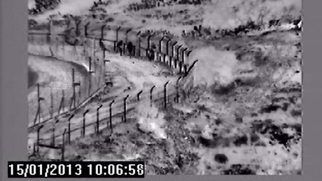 Soldiers throw stun grenades (Photo: IDF Spokesman's Office)