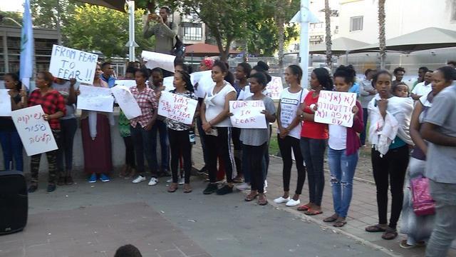 Eritrean asylum seekers' demonstration (Photo: Amit Hoover)