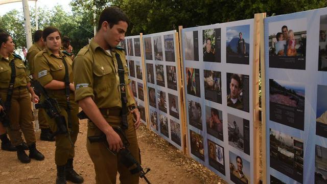 לוח זיכרון בטקס הזיכרון השנתי לחללי מלחמת לבנון השנייה (צילום: אביהו שפירא)