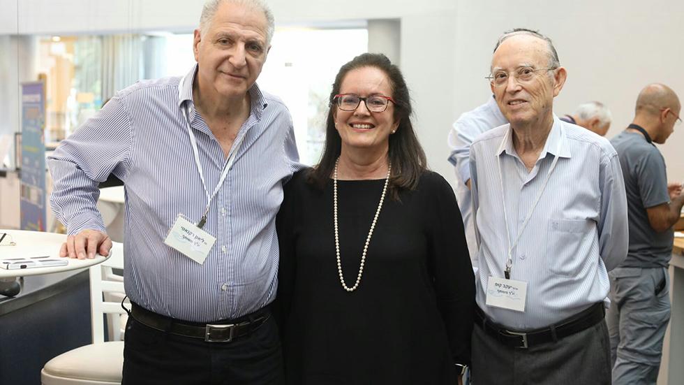 ליאון רקנאטי, יעקב קופ, ליה לאור (צילום: אפי שמח, 3 צלמים)