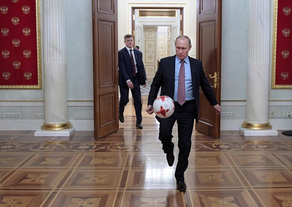 נשיא רוסיה ולדימיר פוטין בפגישה עם נשיא פיפ