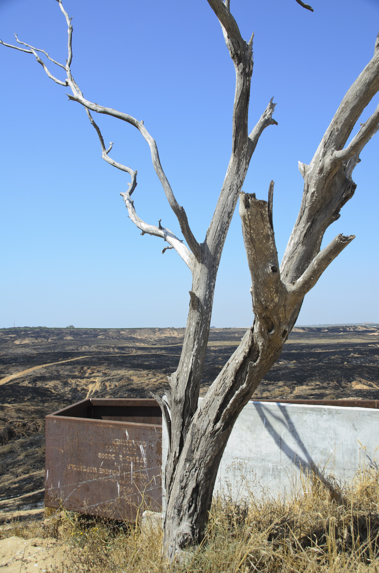 The observation post at the Be'eri Crater Nature Reserve. Photo taken by Dondi Schwartz, 56, of Kibbutz Be'eri, who owns a video and photography studio, participates in photo exhibitions and works for Be'eri Printers
