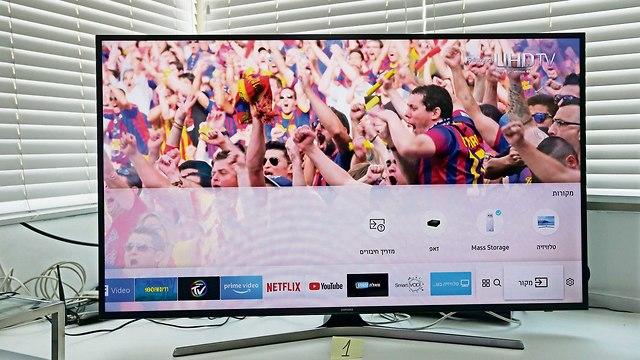 טלוויזיה חכמה 4K של סמסונג (תצלום: תומריקו, ידיעות אחרונות)