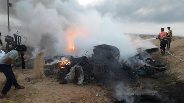 Tires allegedly burned by IAF