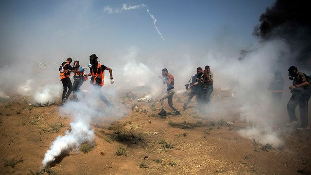 Clashes on the Gaza border (Photo: AP)