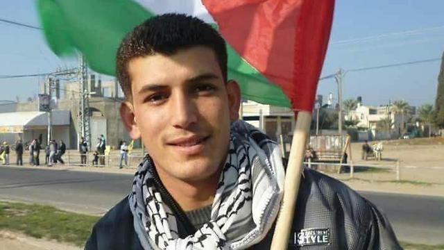 Убитый в Газе палестинец