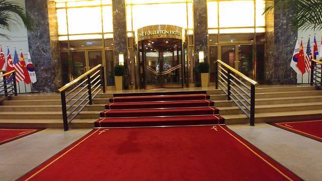 מלון פולרטון לקראת פסגת טראמפ-קים (צילום: עידן ארבלי)