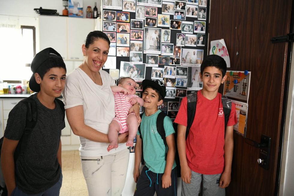 משפחת בכר (צילום: יאיר שגיא)