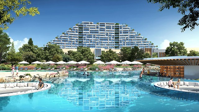 הדמייה של מלון קזינו עיר החלומות קפריסין (הדמייה מתוך אתר המלון)